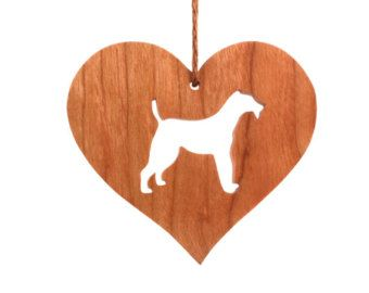 Mastín Inglés ornamento corazón con forma de por OohLookItsARabbit