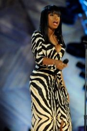Jennifer Hudson working this zebra-striped dress