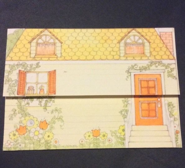 Hallmark Vtg Postalettes Fold And Mail Notecards Stickers
