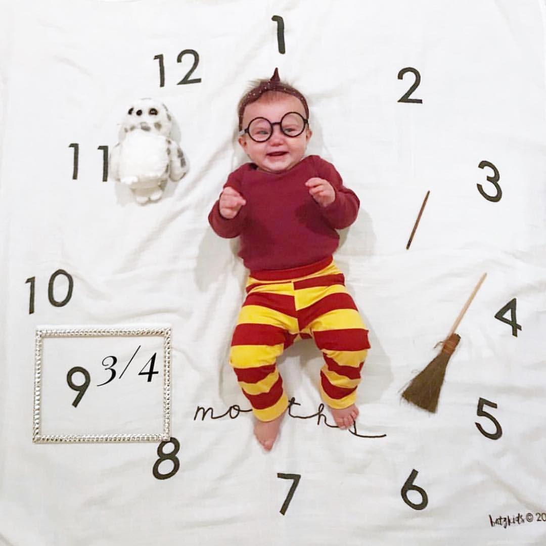 Circle harry potter milestone blanket baby milestones