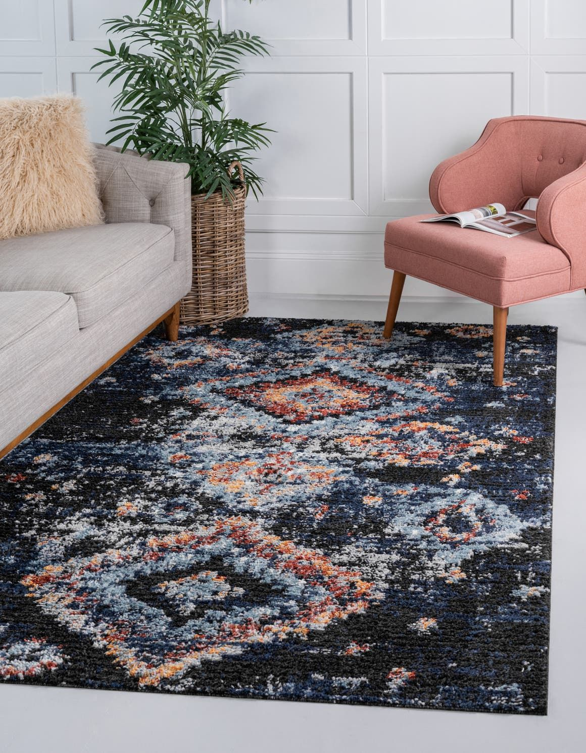 Navy Blue 9 X 12 Morocco Rug Rugs Com Navy Blue Rug Navy Rug Living Room Rugs In Living Room
