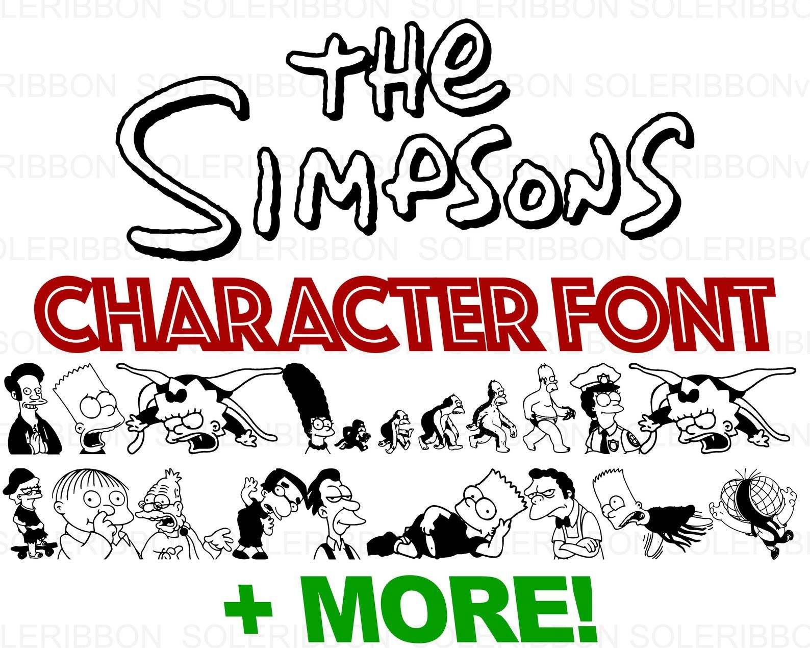 The Simpsons Character Font Simpsons SVG, The Simpsons