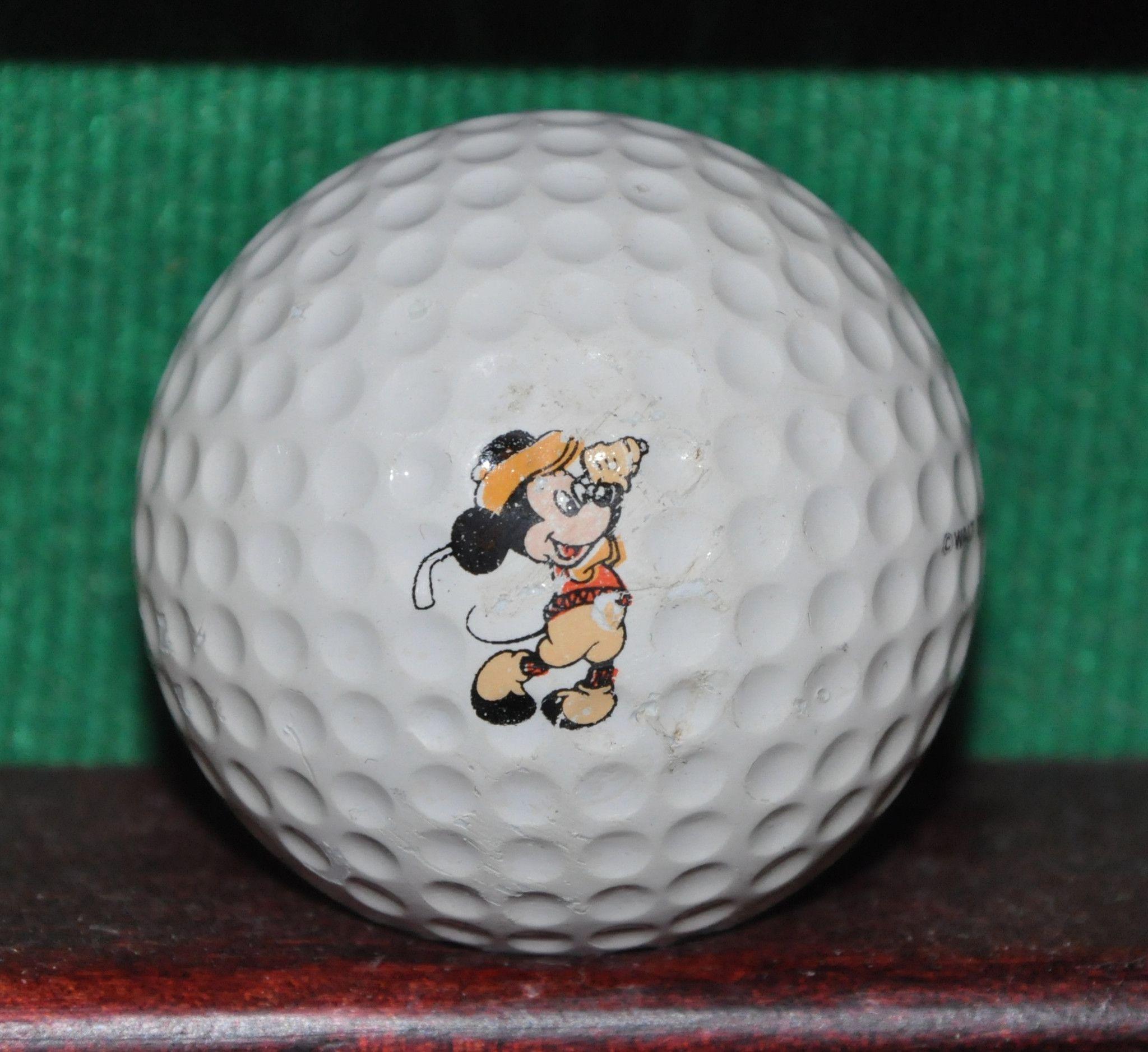 Vintage Walt Disney Mickey Mouse Logo Golf Ball Maxfli Walt Disney Mickey Mouse Golf Ball Disney Mickey Mouse