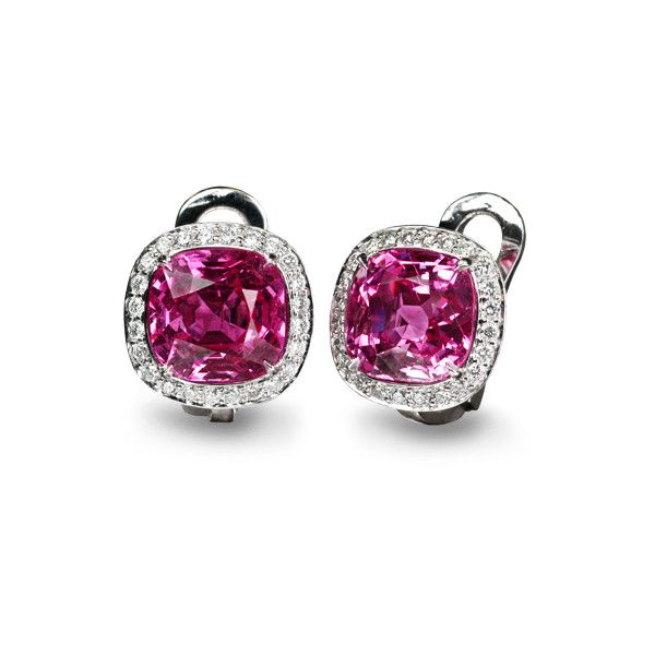 pink sapphire earrings - Google Bilder found on Polyvore