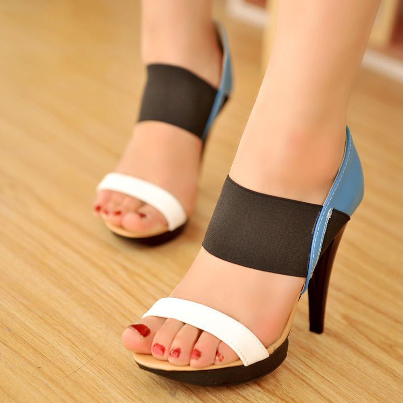 Women heels high heel sandals two color design stiletto pumps ankle strapy AE4