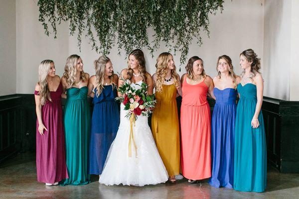 2859cb2ef167 jewel toned bridesmaid dresses - photo by Maria Lamb http://ruffledblog.com