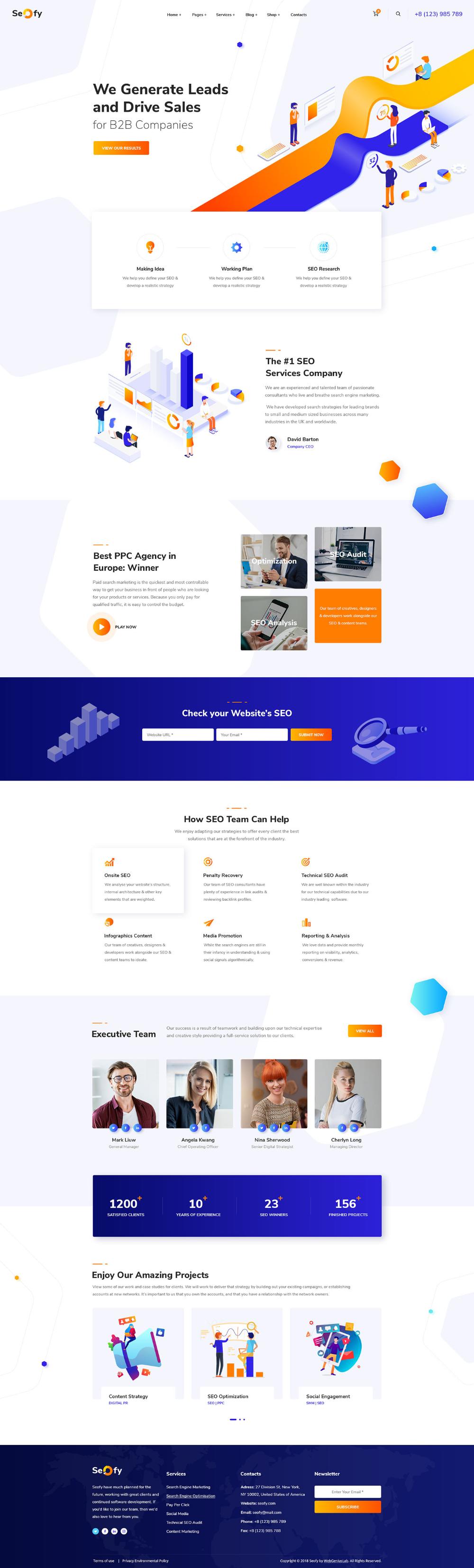 Seofy B2b Website On Behance Seo Digital Marketing Digital Marketing Agency B2b Website