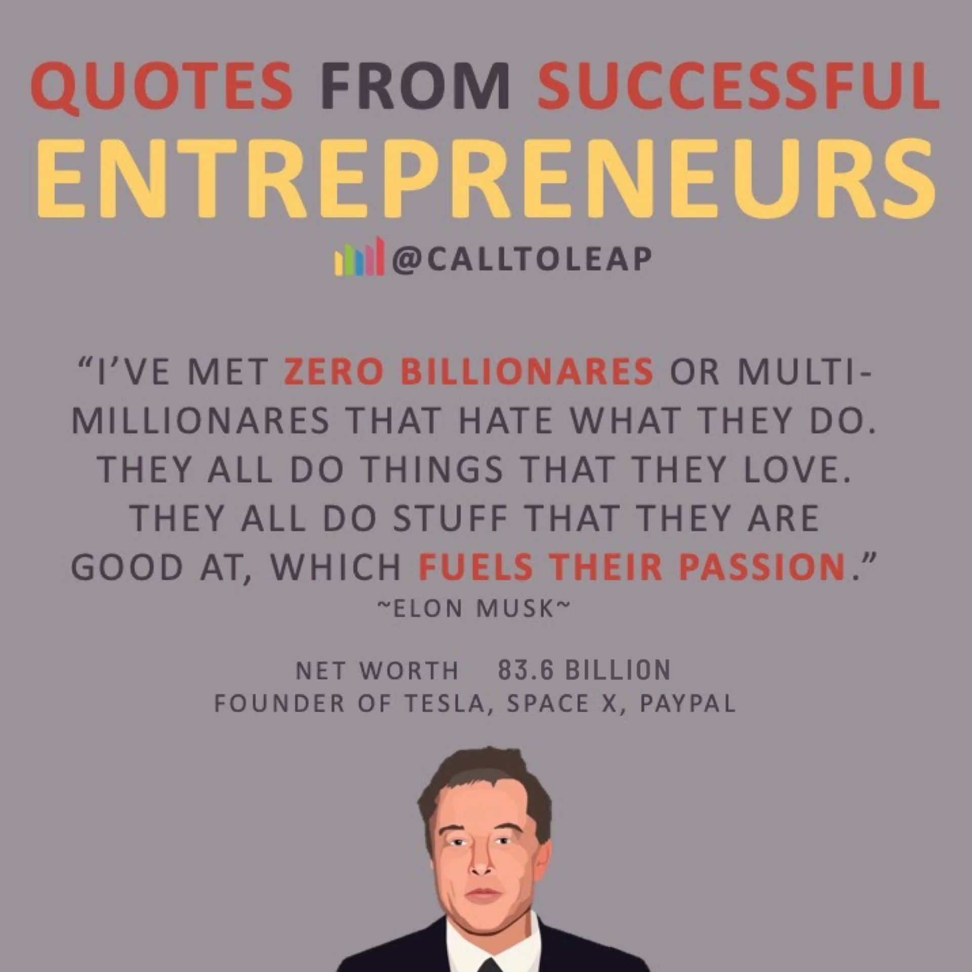 Quotes From Successful Entrepreneurs Elon Musk Tesla Video In 2020 Entrepreneur Success Success Habits Success
