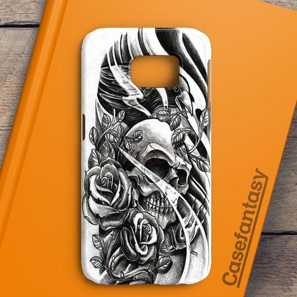 Sketch Skull Samsung Galaxy S7 Case | casefantasy
