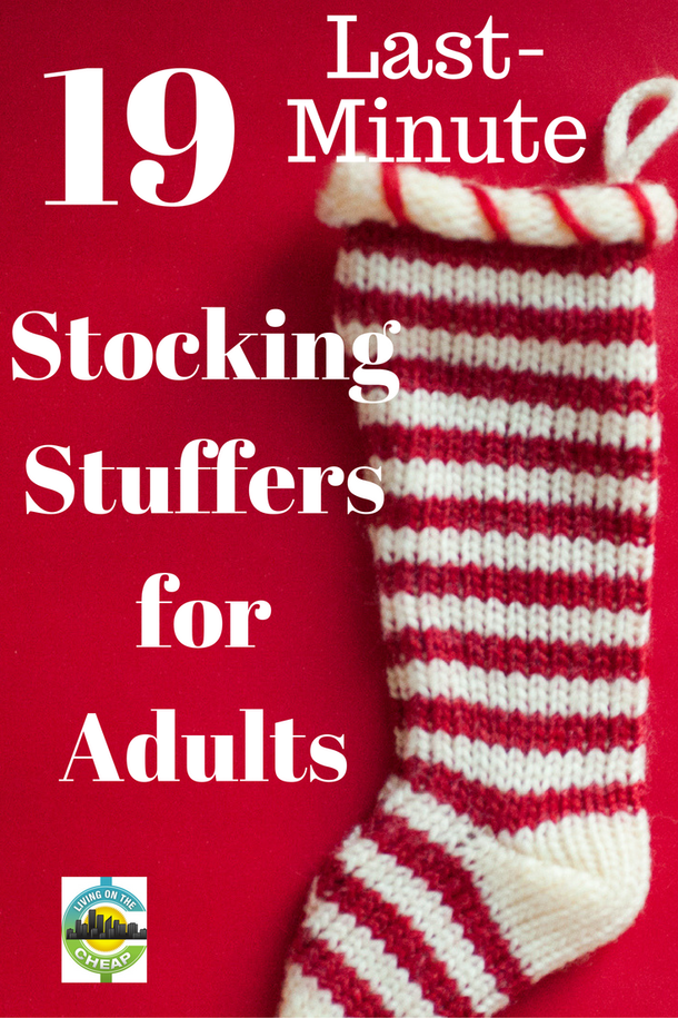 Last-minute stocking stuffers for grown-ups - Living On The Cheap