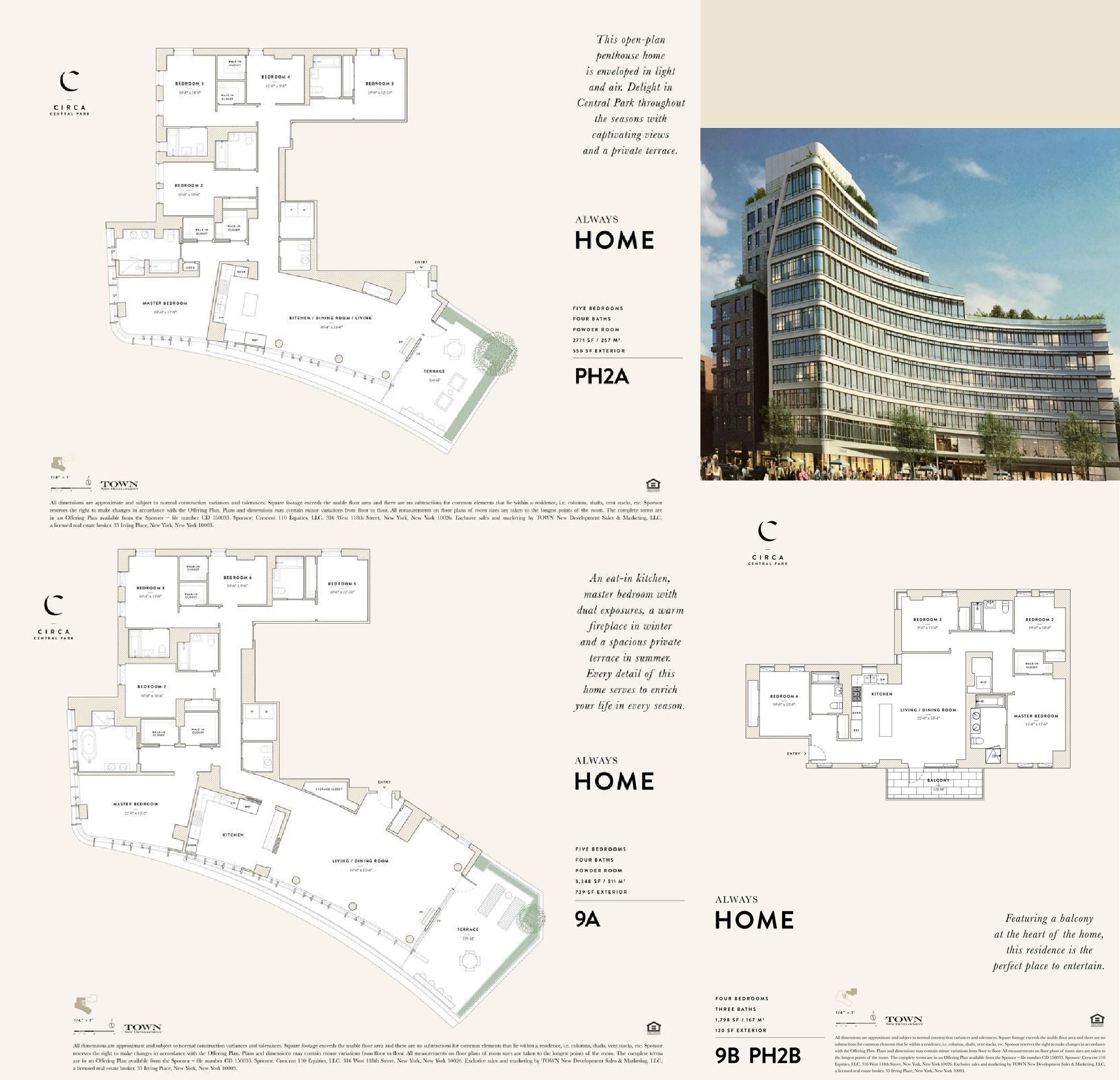 Apartment /Penthouse Floor Plans