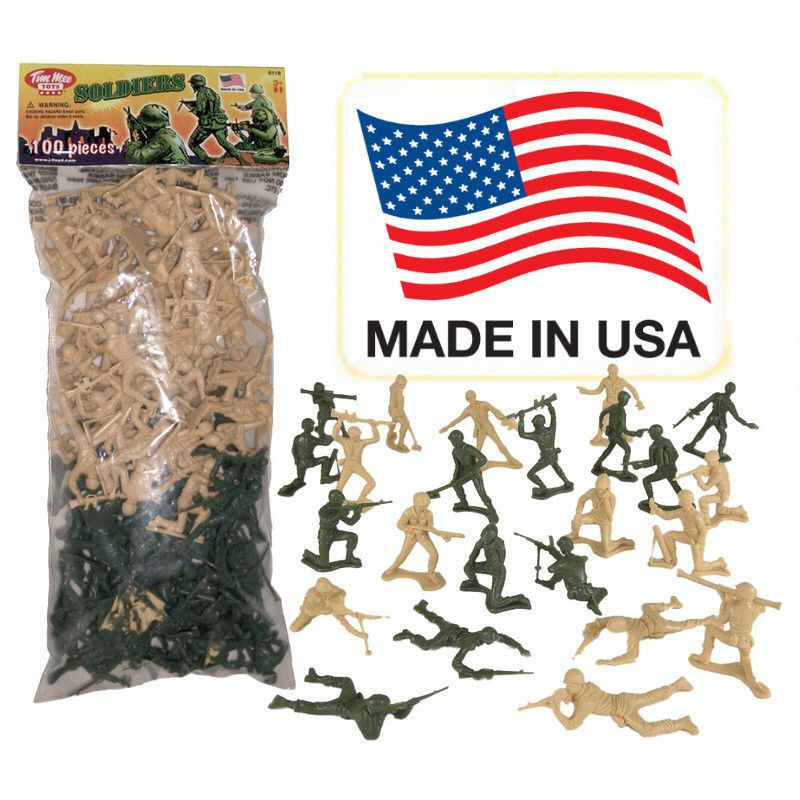 2dcf86555b TimMee Processed Plastic Army Men  100 Tan   Green Tim Mee Toy Soldier  Figures
