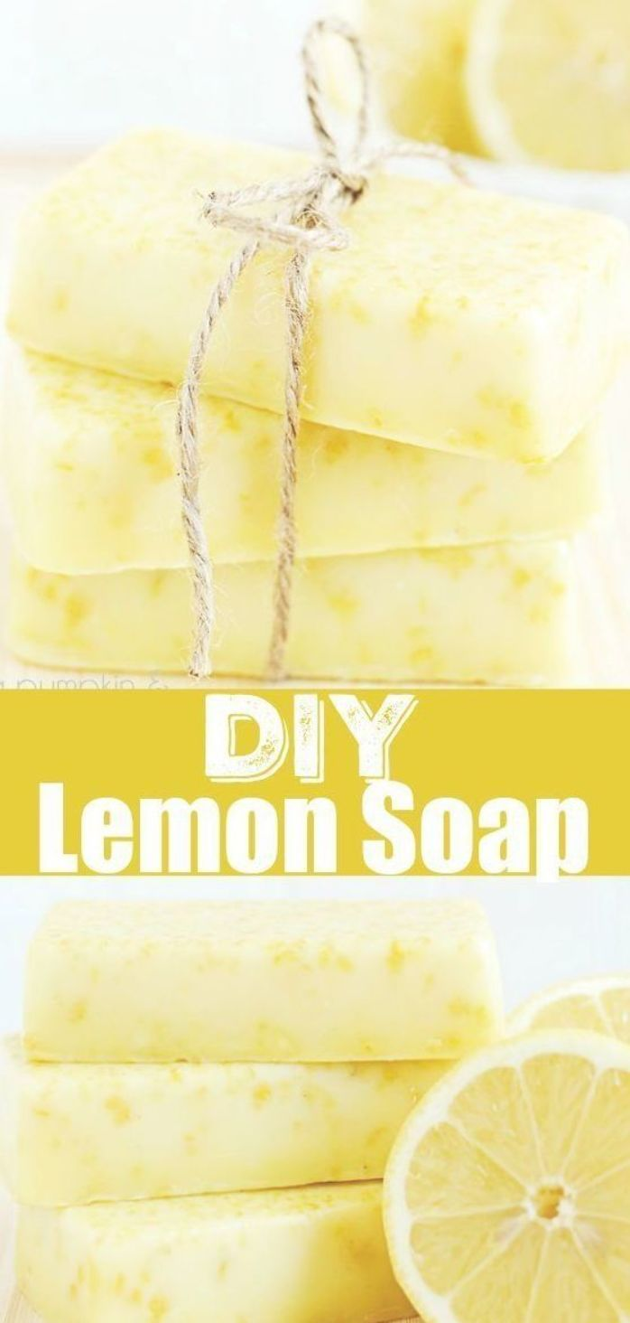 DIY Lemon Soap  easy melt and pour soap tutorial made with lemon essential oils This soap smells incredible and makes a lovely handmade gift