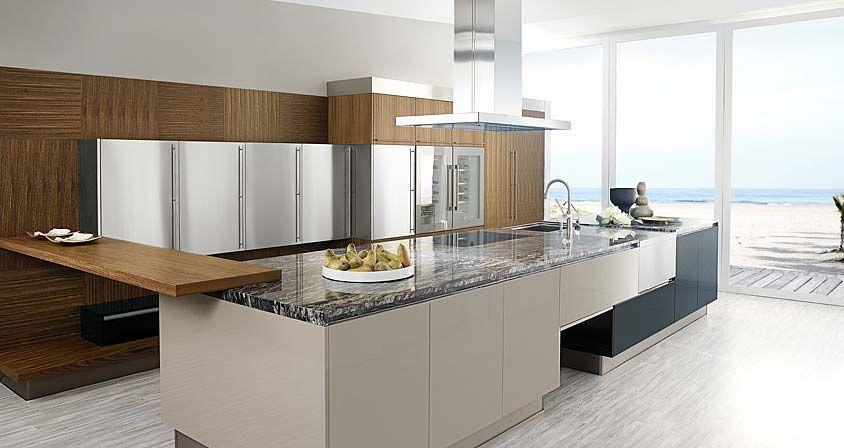 Muebles de cocina. g 580 acabado negro brillo / yeso brillo / g ...