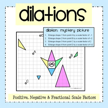 Dilation Mystery Picture Activity Worksheet Pack Geometry Worksheets Algebra Worksheets Learn Math Online