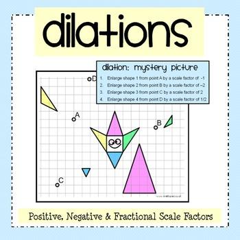 Dilation Worksheets 8th Grade