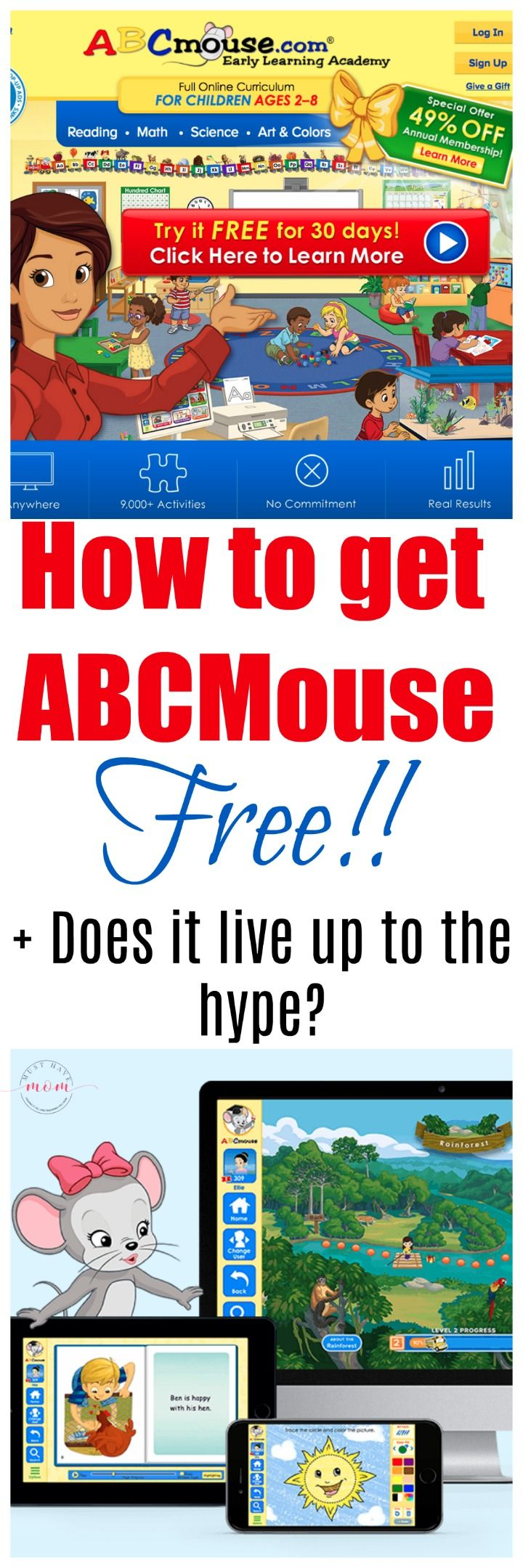 How to get ABCMouse FREE + Does it live up to all the hype