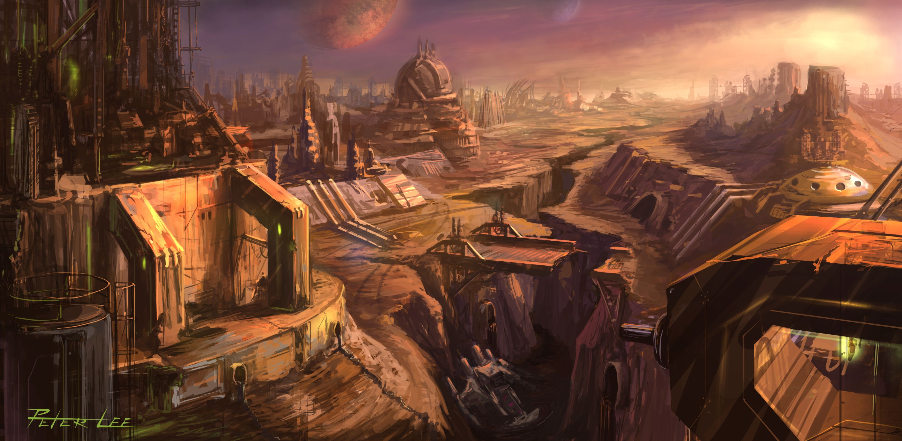 sci fi cities on other planets - photo #18