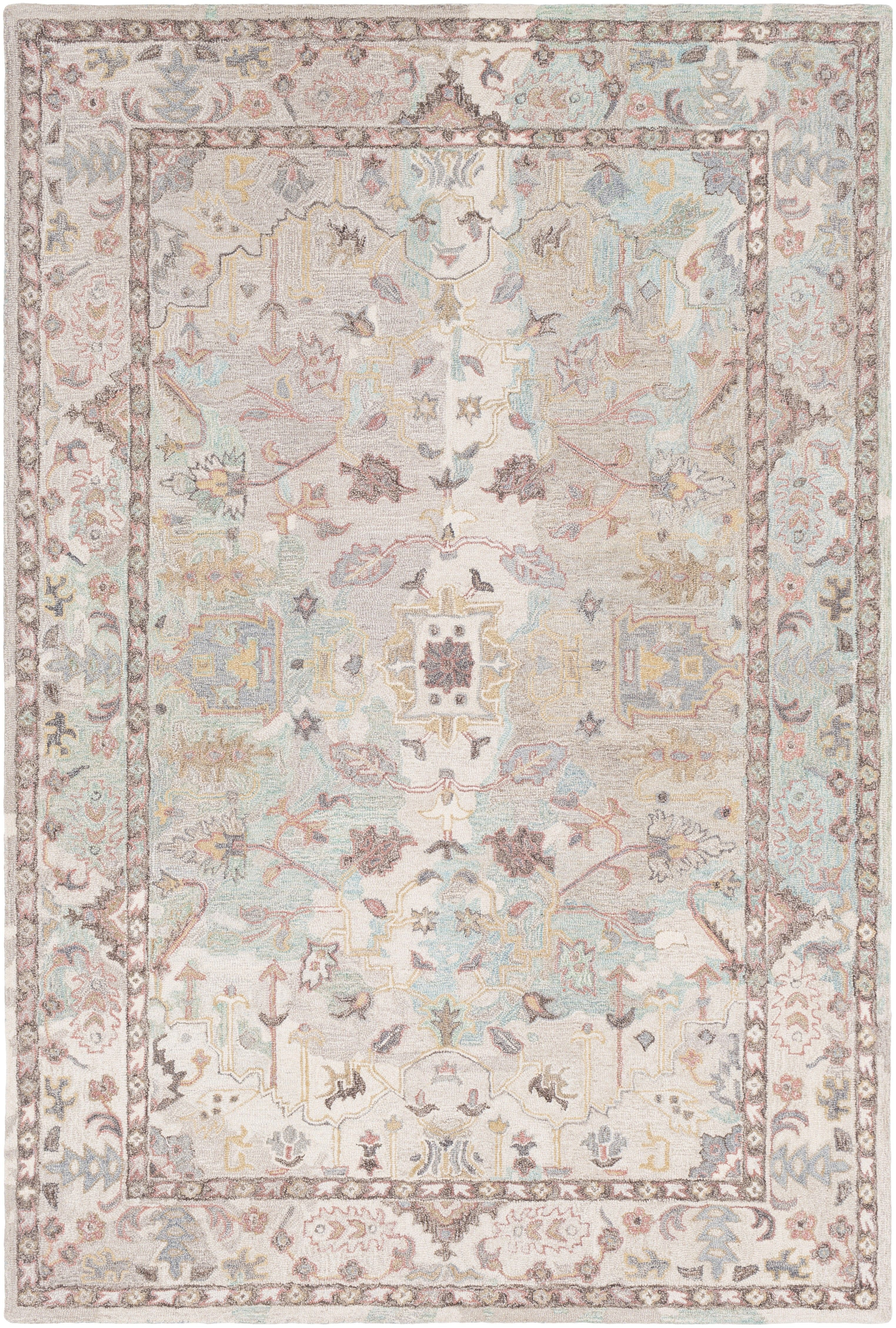 Brilliantly Blend Classic And Contemporary Styles With Floral And Geometric Motifs On A Background Of Variegated Pastels Area Rugs Rugs Traditional Area Rugs