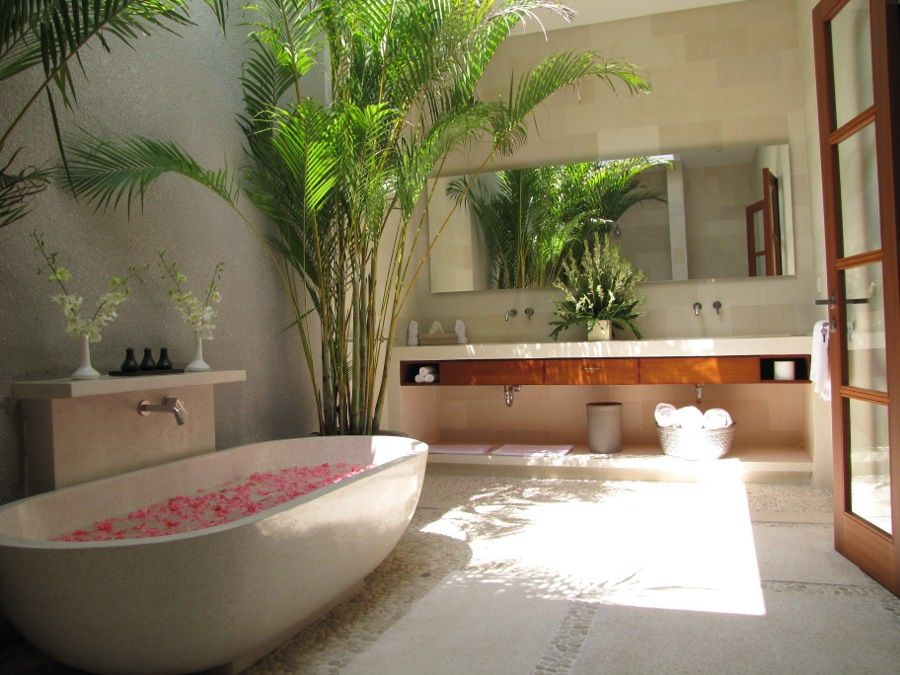 Villa chocolat balinese bathroom bathroom interior for Beautiful houses interior bathrooms