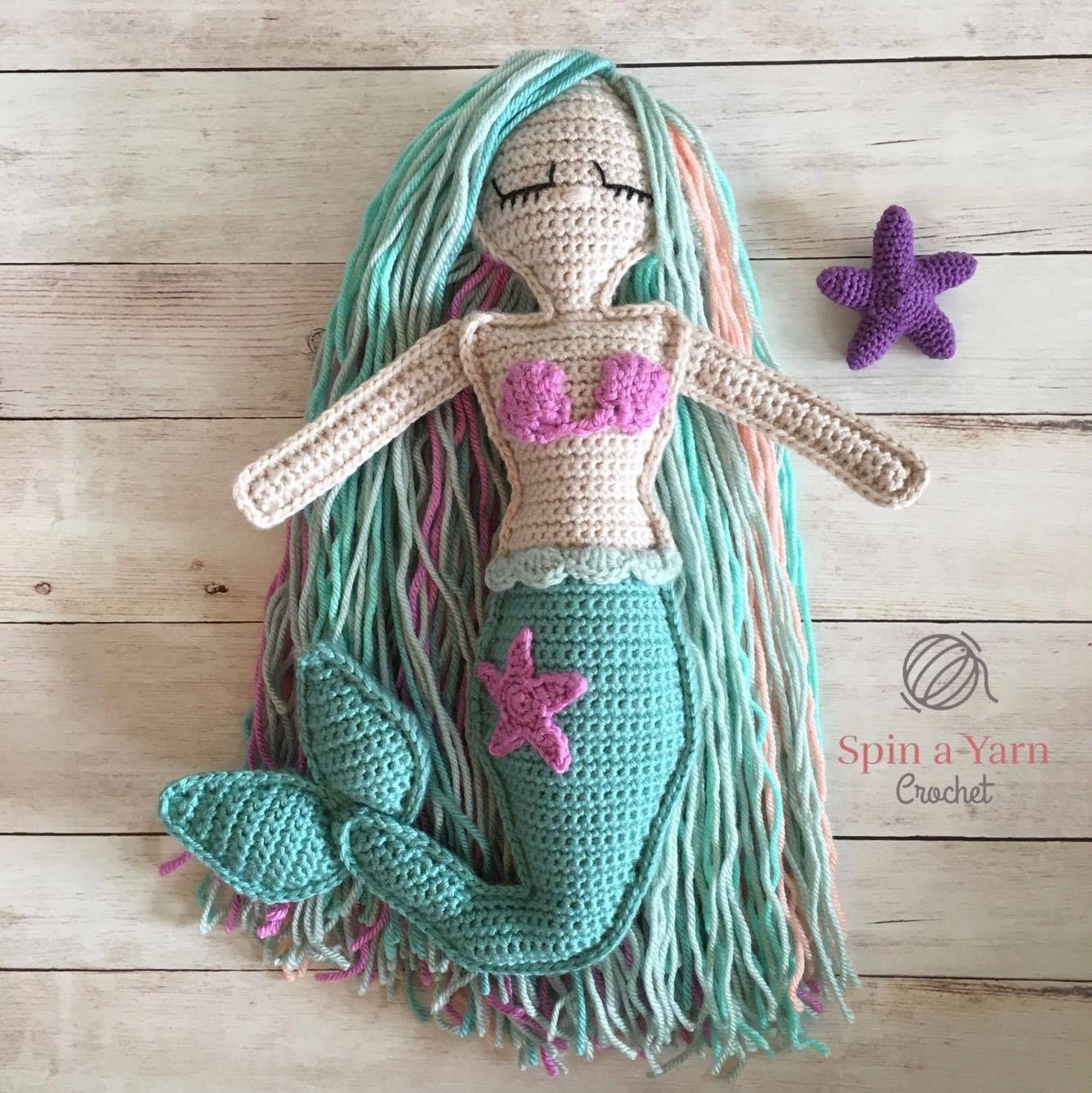 Ragdoll Mermaid Free Crochet Pattern | Niño bebé, Sirenitas y Tutoriales