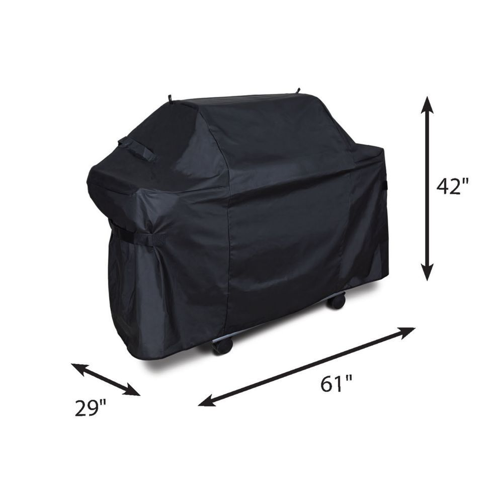 Deluxe 61 Inch Pvc Polyester Bbq Cover Compatible With Genesis 300 In 2020 Grill Cover Bbq Cover Gas Grill Covers