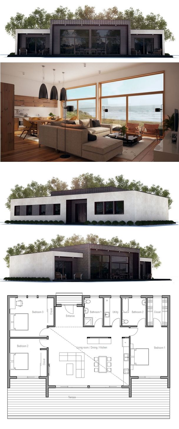 Modern house plan from house plans for Concept home com