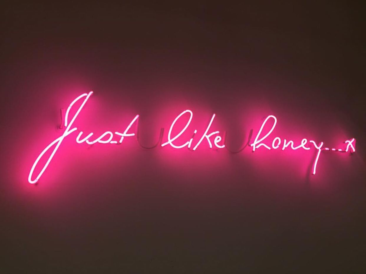 Just Like Honey Neon Sign Neon Signs Neon Quotes Custom Neon Signs