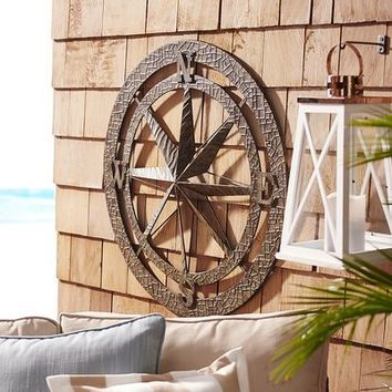 a large bronze compass compasswallart compass wall on wall paintings id=70191