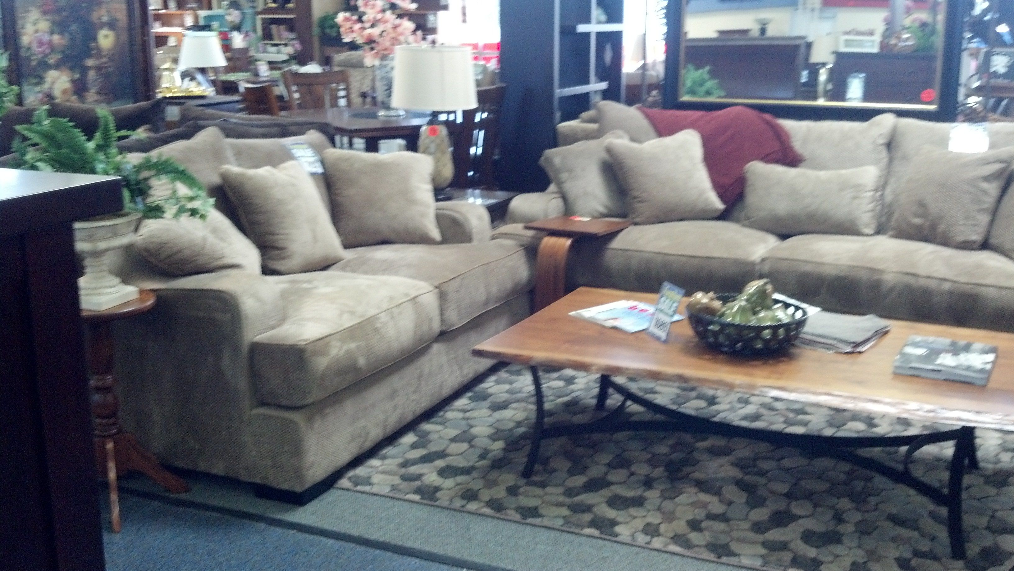 Deep Seating Sofa Loveseat Amish Wood Coffee Table Deep Seated