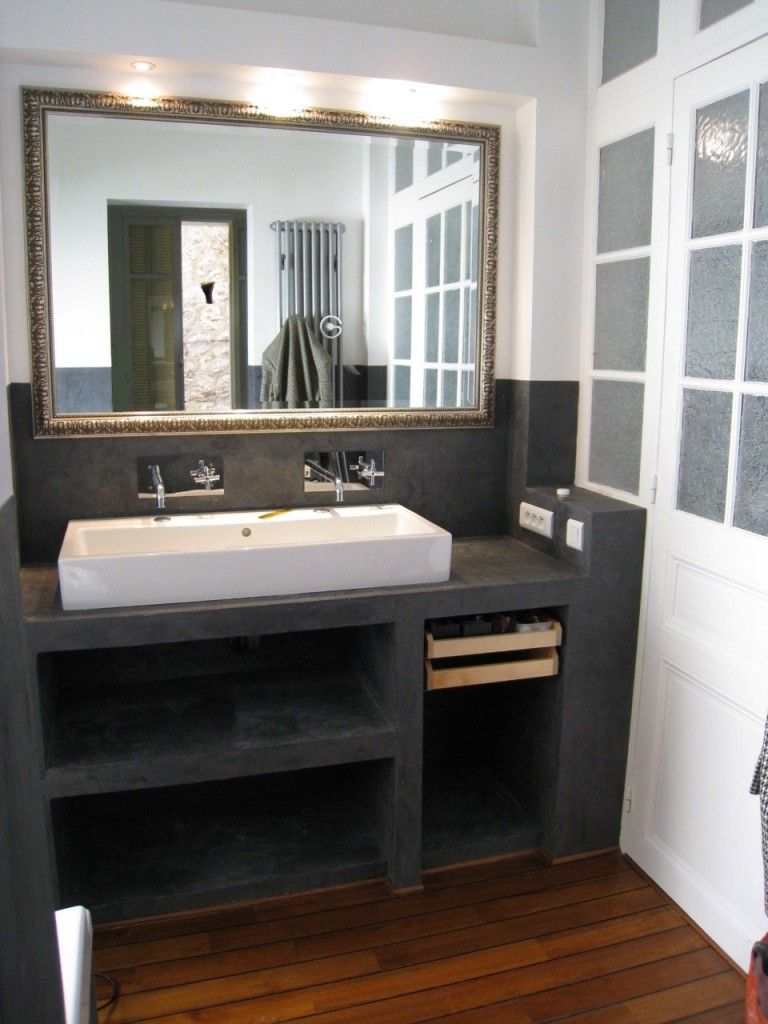 fabriquer meuble salle de bain placo. Black Bedroom Furniture Sets. Home Design Ideas