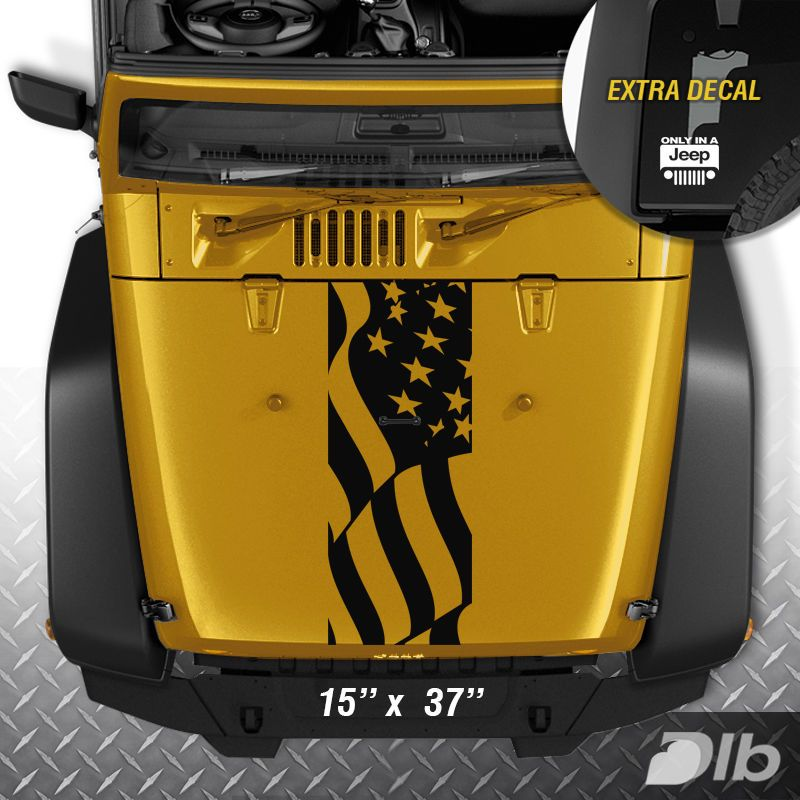Jeep Wrangler Tj Lj Jk American Flag Usa Vinyl Hood Decal Sticker Car Truck Jeep Wrangler Tj Jeep Stickers Jeep Wrangler Stickers