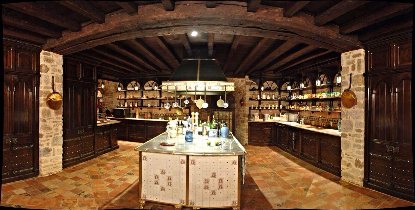 Kitchen on Ground Level | Medieval Castle de Montbrun, Dournazac, Haute-Vienne, France