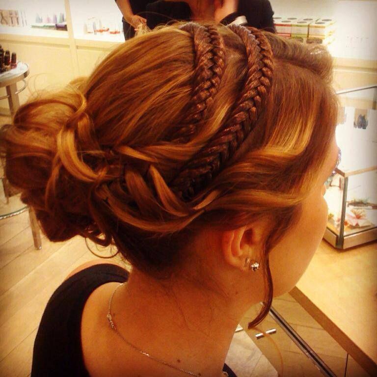 Chignon avec headband tress chignons pinterest chignon coiffures et coiffure mariage - Chignon avec headband ...