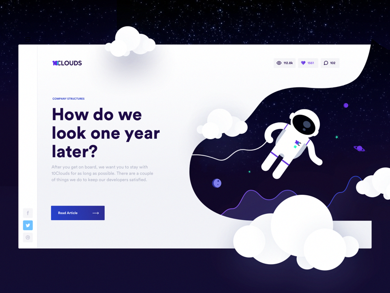 Do You Want To Join 10clouds If Yes That S Great We Are Always On A Lookout For Talented Developers After You Get Webpage Design Web Design Web App Design