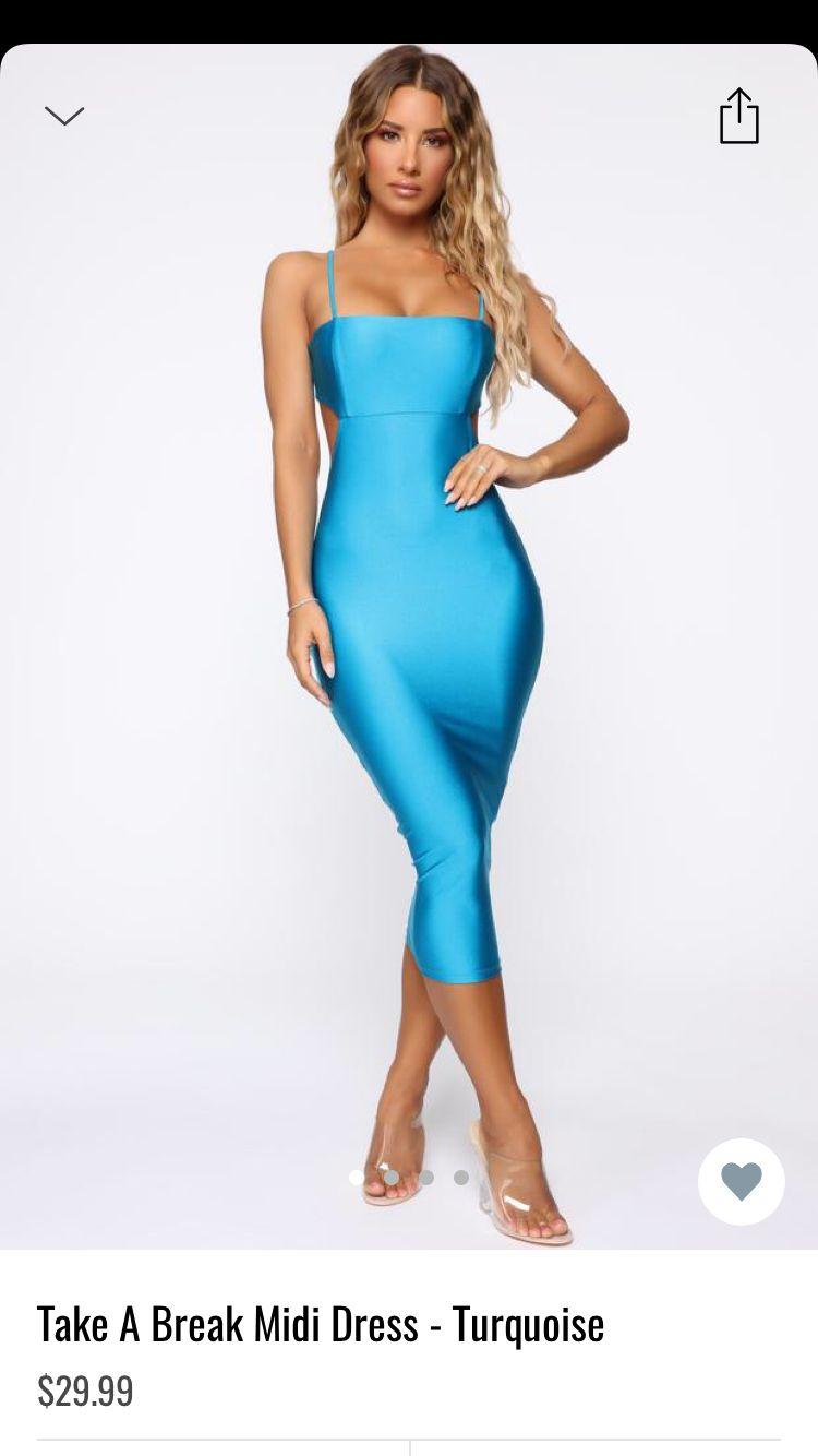 Take A Break Midi Dress Turquoise Dresses Pretty Quinceanera Dresses Turquoise Fashion [ 1334 x 750 Pixel ]