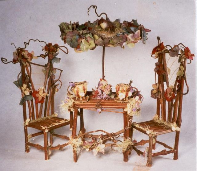 Better Fairytale Teaparty Table And Chairs Fairy Furniture Fairy Garden Furniture Fairy Garden