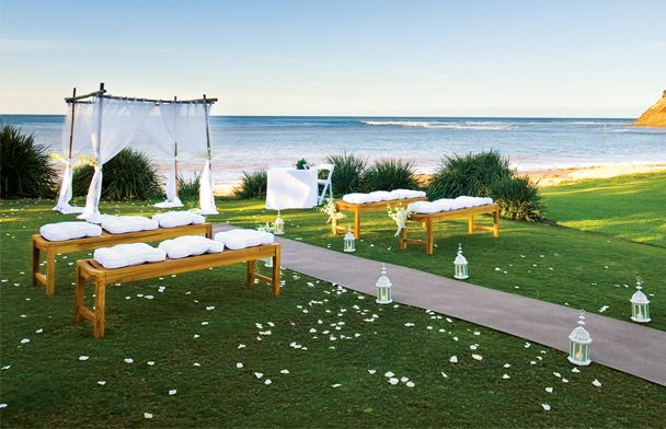 Beach View Wedding Ceremony At Long Reef Golf Club Collaroy