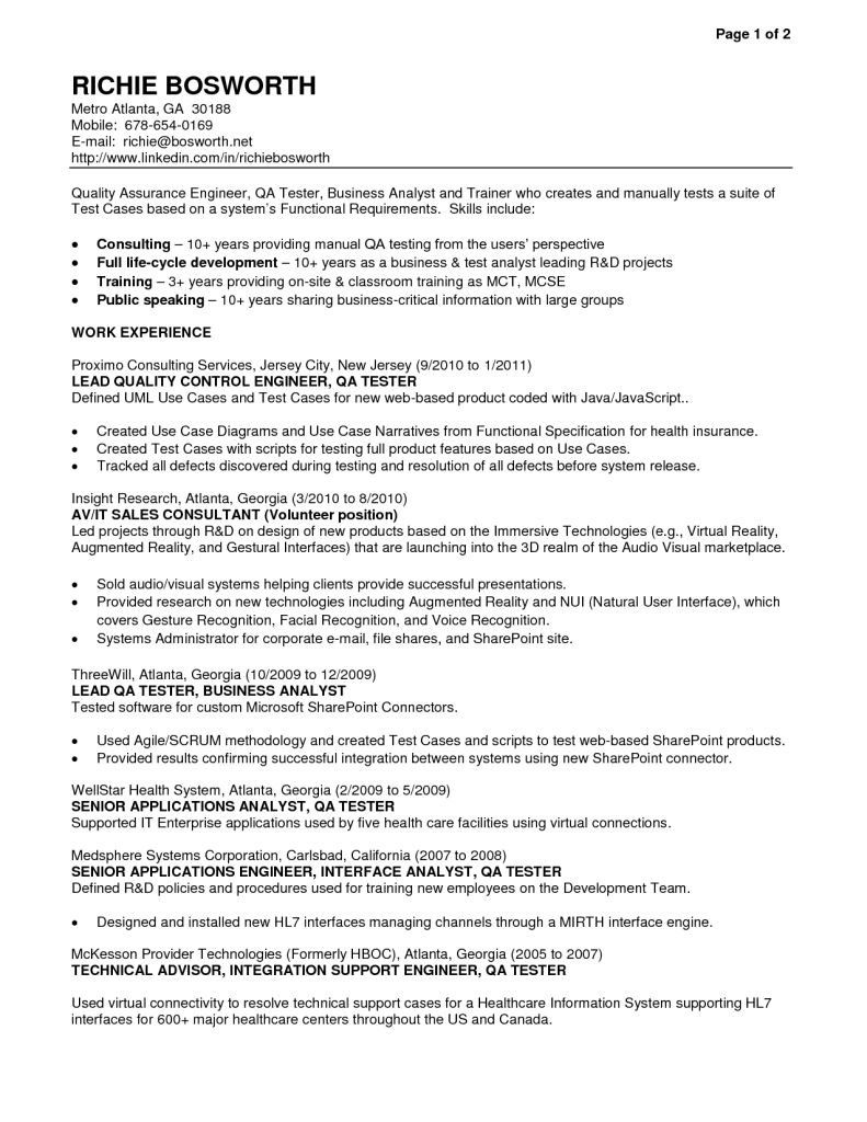 Qa Analyst Resume Tester Sample Resume For Entry Level Manual Kamal Narayan Sahu