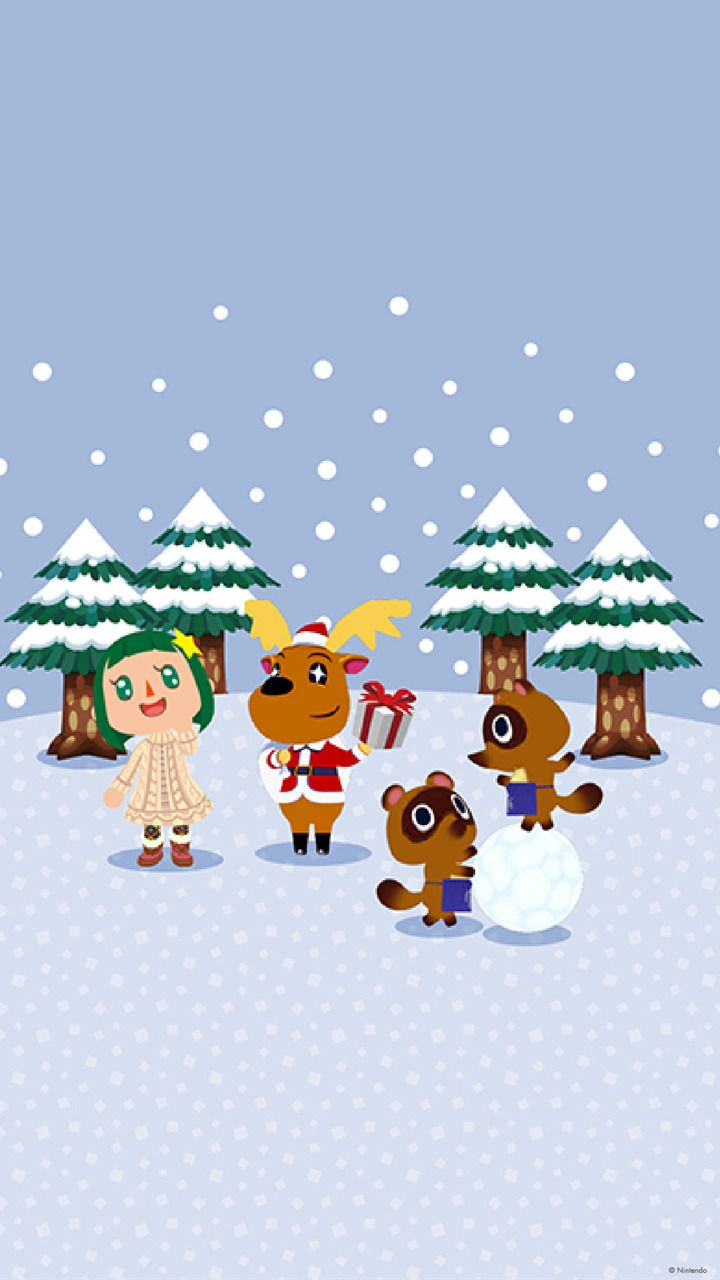 """The My Nintendo """"Animal Crossing Snow Day"""" wallpapers"""