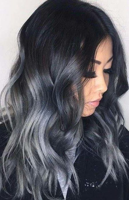 Dark Hair Color Ideas Best Hair Color Trends 2017 Top Hair Color Ideas For You Hair Color For Black Hair Silver Hair Color Grey Ombre Hair