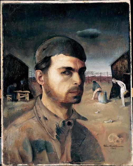 Felix Nussbaum - Autoportrait dans le camp de St Cyprien
