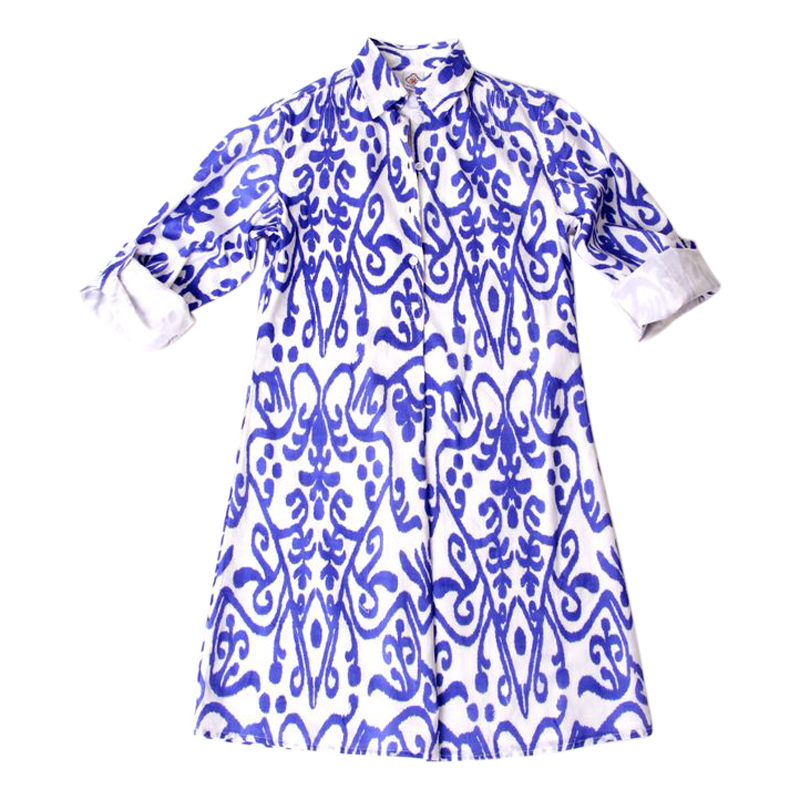 Eloise Dress in Blue Ikat//Oh my word! Love this! #sheridanfrench ...
