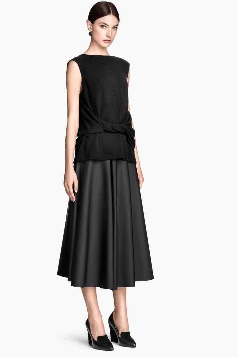 39f96a7edcdb9 Jupe ample   H&M   La mode by Valerie   Faldas, Faldas largas et ...