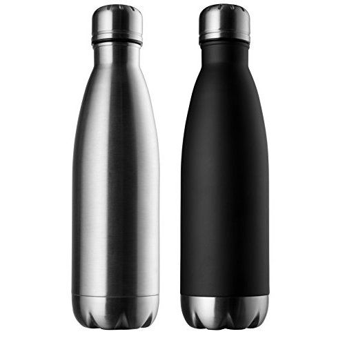 25 Oz (750 ml) Vacuum Insulated Water Bottle | Double Walled Stainless Steel Cola Shape Travel Water Bottle - No Sweating, Keeps Your Drink Hot & Cold | Blue | by MIRA