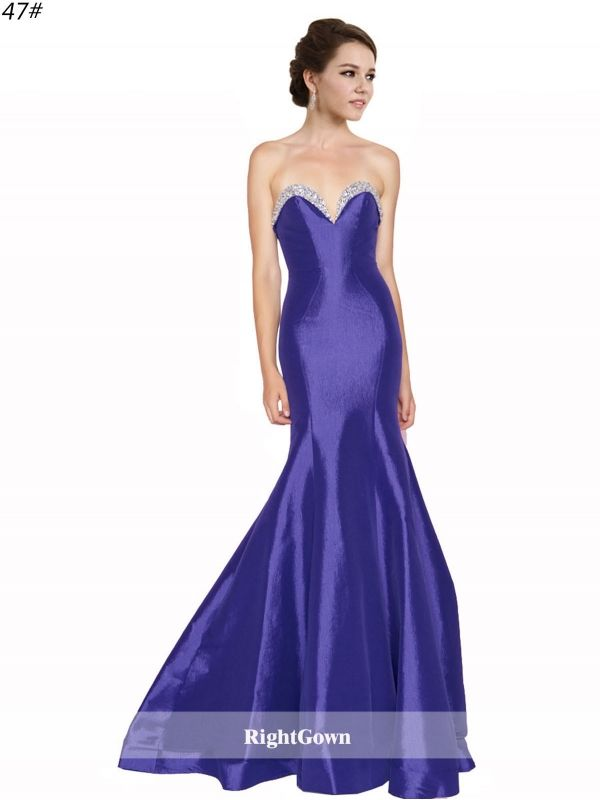 Hot 2018 Style Mermaid Long Sweetheart Taffeta Sleeveless Purple ...