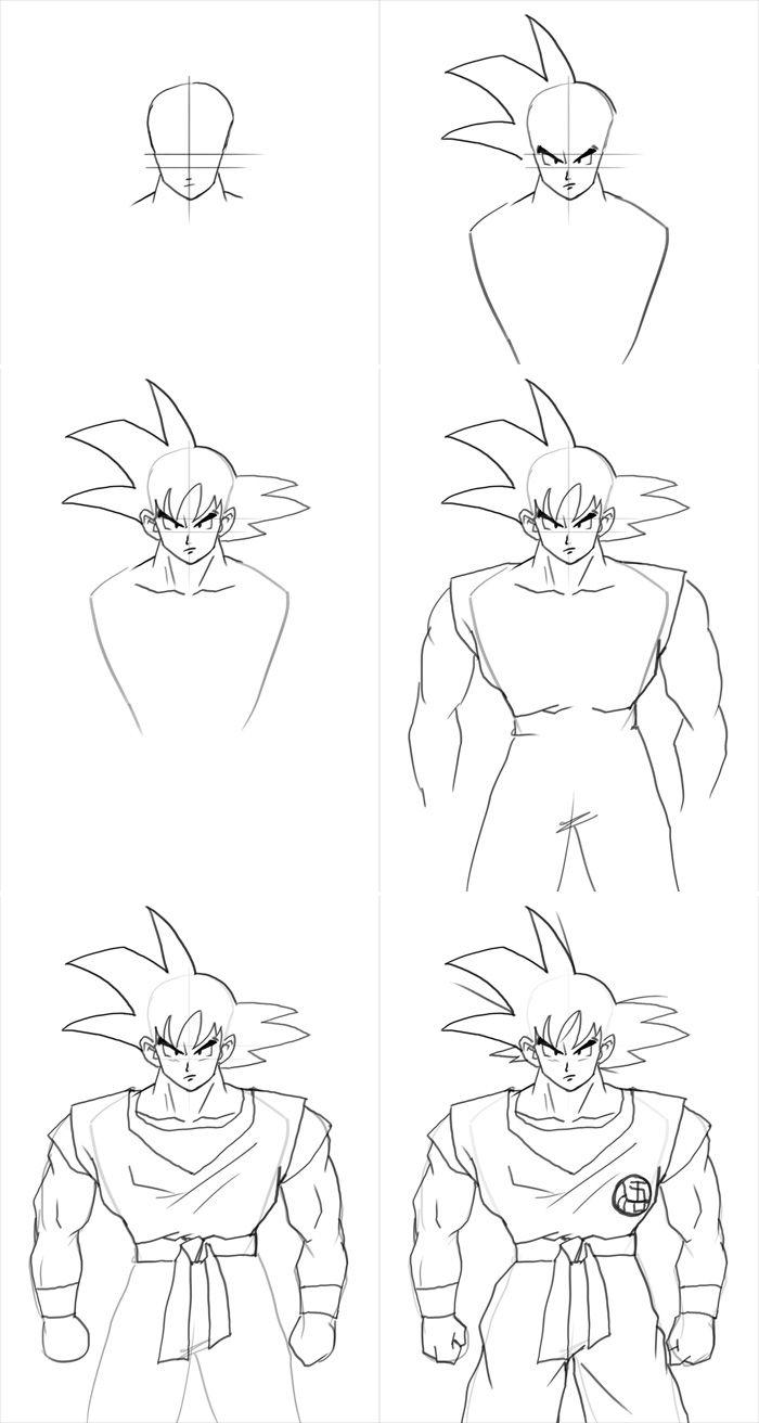 Epingle Par Christina Therrien Sur Art Tutorials Tutoriel De Dessin Dessin Goku Comment Dessiner Goku