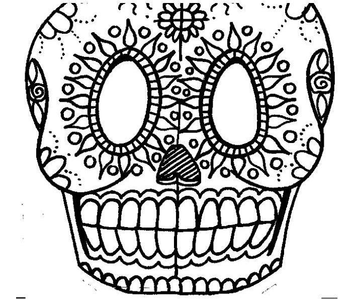 Template Sugar Skull | Sugar skull, Crafty projects, Day ...