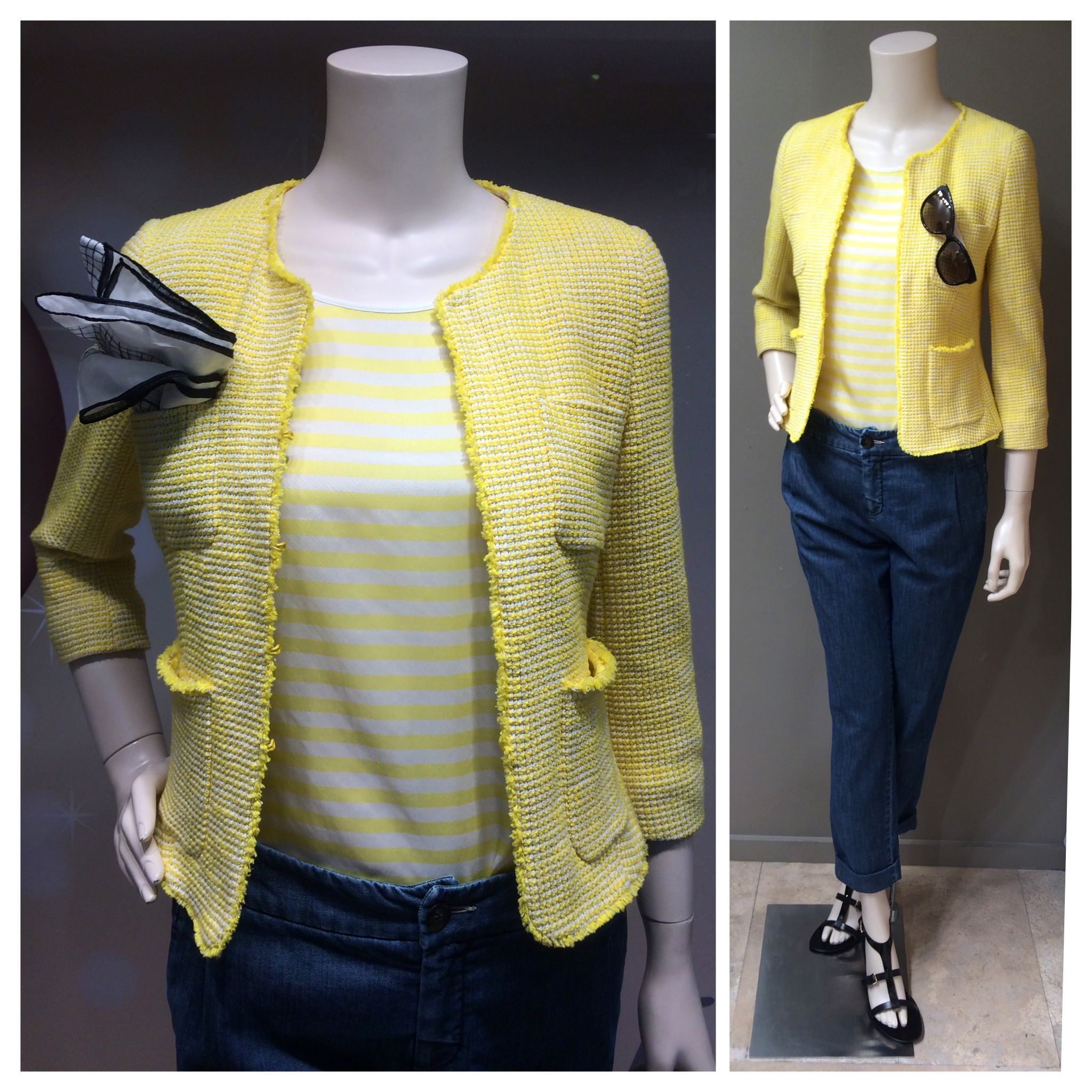 Max Mara SS 2014 Collection: Weekend label soft yellow cotton ¾ ...
