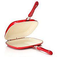 446-244 - Cook's Companion® Cast Aluminum Ceramic Nonstick Low Pressure Versa Flip Pan